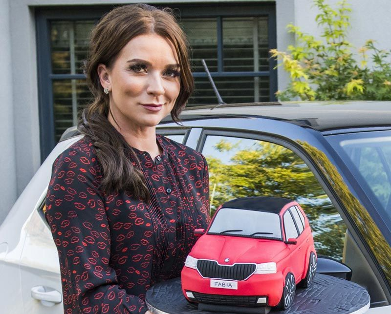 Still full of lovely stuff: Candice Brown recreates small-scale version of famous ŠKODA Fabia cake