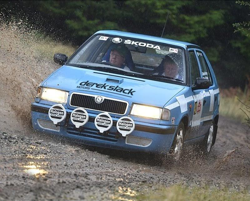 Derek Slack Motors Sponsor Historic Road Rally Car