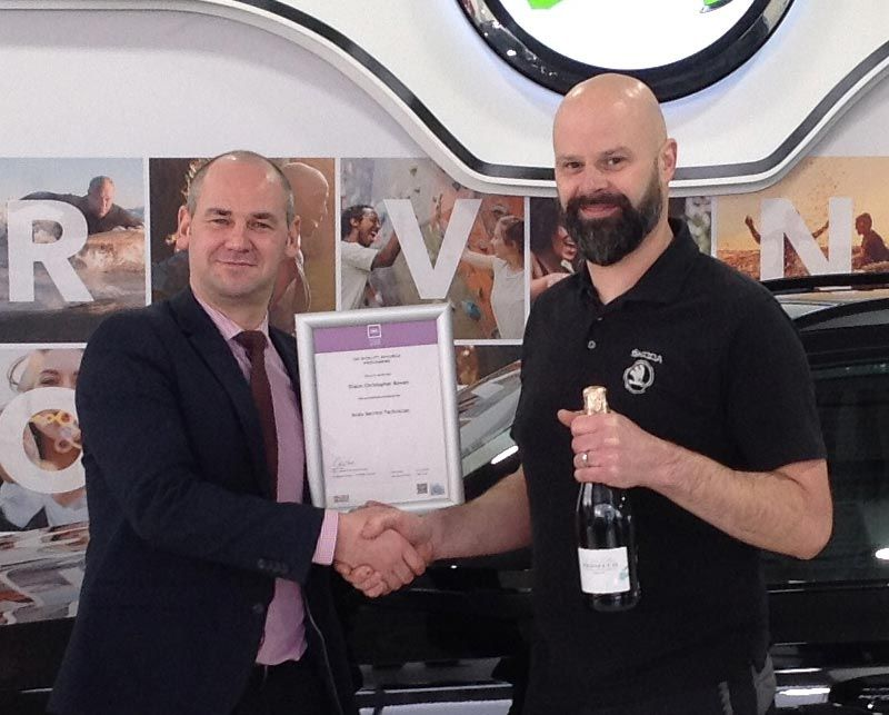 Sean Bowen, Passes ISUZU Service Technical Qualification