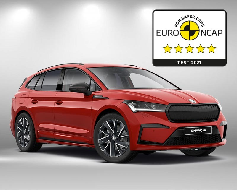New ŠKODA Enyaq iV earns five stars in Euro NCAP test